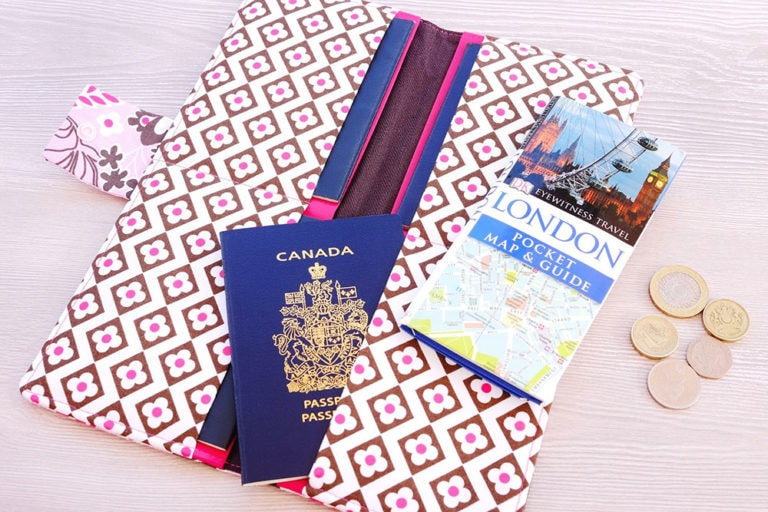The FREE family passport wallet sewing pattern and tutorial is a quick and easy sew, best suited to wovens and is a most excellent scrap buster.