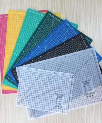 Eco Friendly Self Healing Cutting Mat - A1, A2, A3 or A4. Each available in black, blue, light green, dark green, white or pink. Flexible, 2.5mm thick.