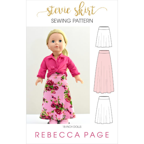 "What sews up quicker than you can say ""dolls jersey skirt sewing pattern""? Not quite this Stevie skirt but it does come in at a very close second!"