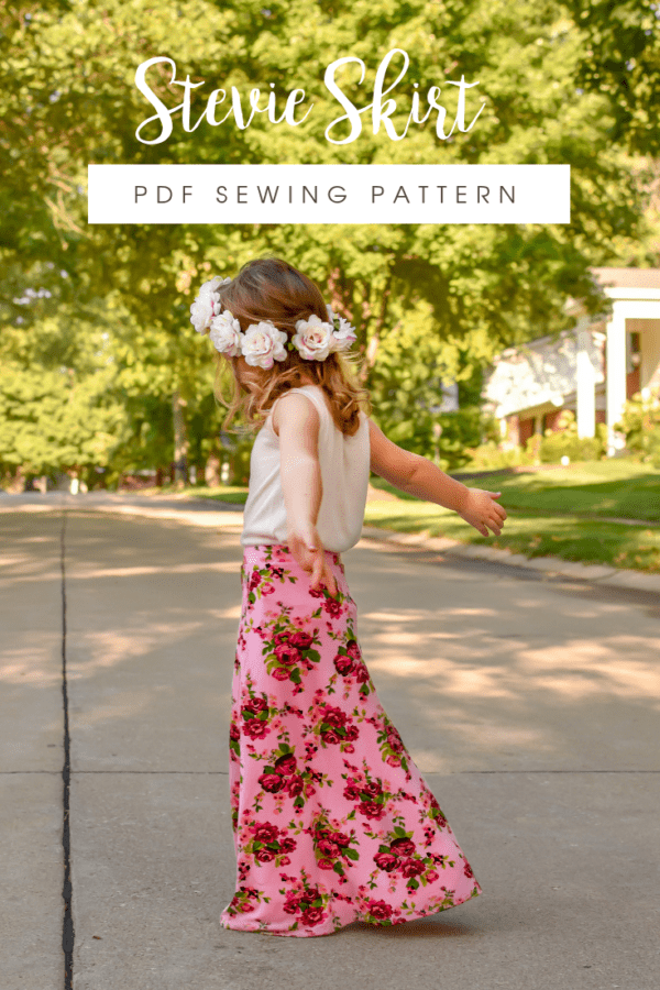 """What sews up quicker than you can say """"jersey skirt sewing pattern""""? Not quite this Stevie skirt but it does come in at a very close second!"""