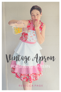 A FREE delightfully whimsical and charming vintage apron sewing pattern for a pinch of nostalgia and a cute protective layer.