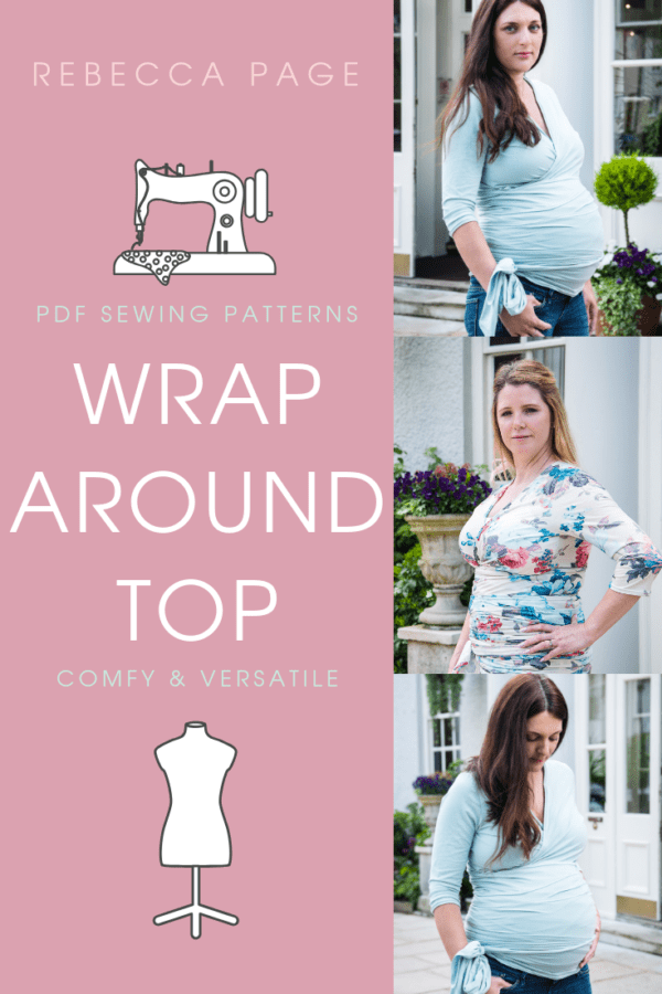 A beautiful, comfortable, and versatile wrap around top sewing pattern by @Rebecca Page