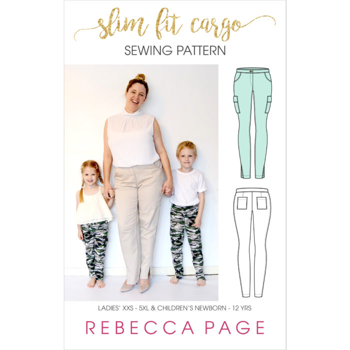 Pockets are important. We need pockets for all the things and this cargo pants sewing pattern for women and children is all about the pockets!