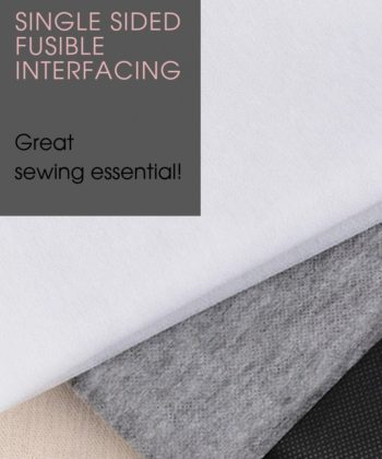 Single sided Fusible Interfacing (1 yard), suitable for use on woven fabrics (not suitable for knit fabrics).