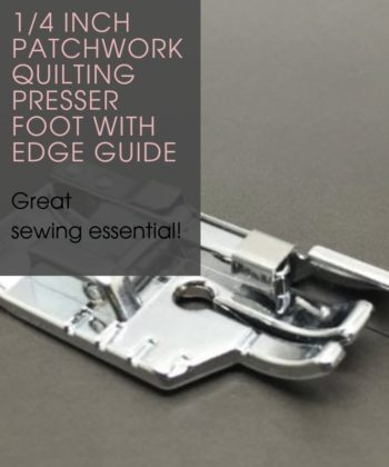 1/4 inch Patchwork Quilting Presser Foot with Edge Guide