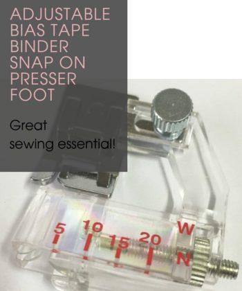Adjustable Bias Tape Binder Snap On Presser Foot