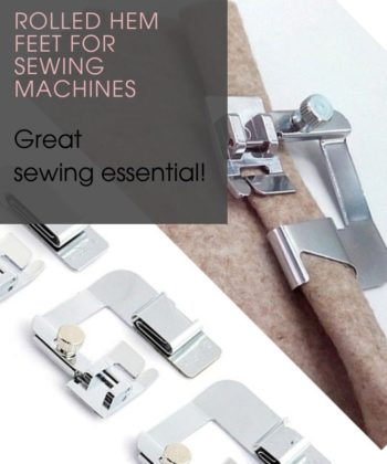 Rolled Hem Feet for Sewing Machines in 3 Sizes. A great sewing basic for any and every sewista