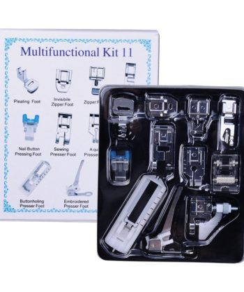 11Pc Multifunction Presser Foot Set For Low Shank Sewing Machine. A great sewing basic machine foot set for any and every sewista.