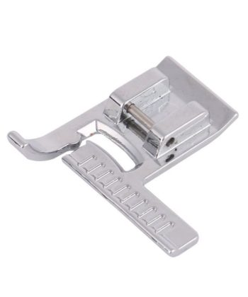 Sewing Machine Presser Foot with Ruler. It helps to make sewing and quilting easier by providing a ruler guide that can be used while actually feeding the fabric through the sewing machine.