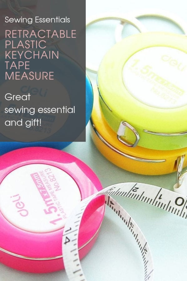 Retractable Plastic Keychain Tape Measure. These lovely retractable plastic keychain tape measures are perfect for grabbing measurements on the go and with style!