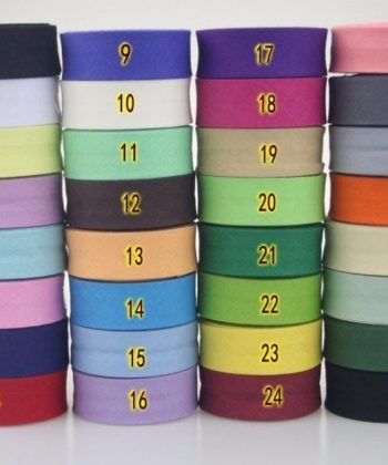 20mm Single Fold Cotton Bias Binding/ Bias Tape in your choice of many different color options.