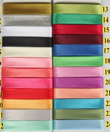 15MM Poly Satin Single Fold Bias Binding/Bias Tape in your choice of many different color options.