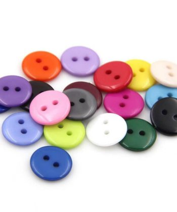 12.5mm Round Resin 2-Holed Buttons 160 pcs