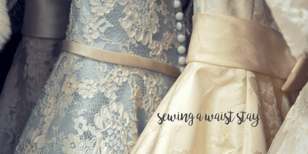 How to keep a strapless dress up? Sew a simple waist stay to keep your gorgeous outfits from falling down. This hack can be used on all strapless dresses!