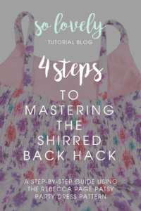 Hack the back of the children's Patsy to have full-back shirring!