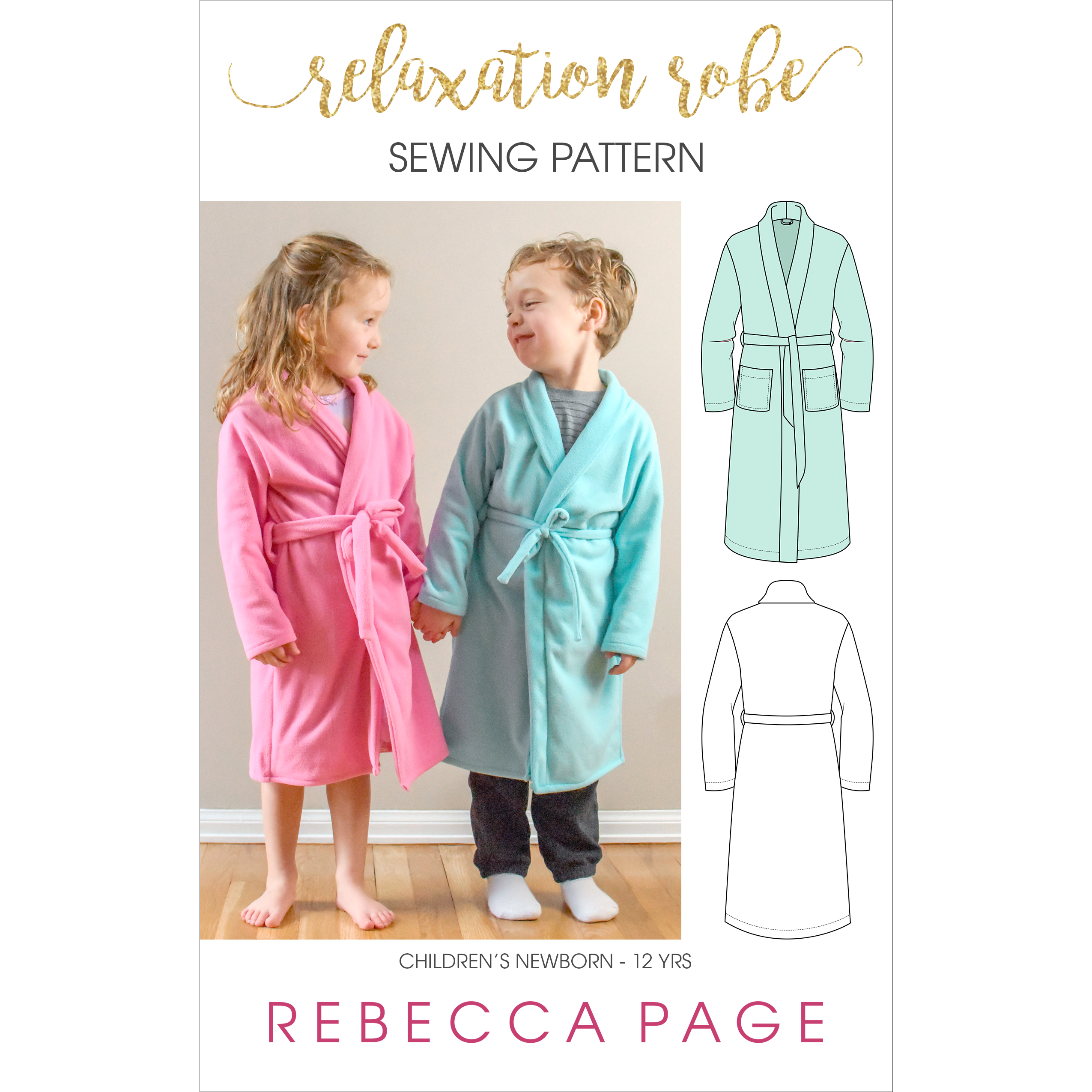 Relaxation Robe – A Children's Bathrobe Sewing Pattern - Rebecca ...