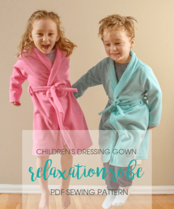 Sometimes, the most productive thing you can do is relax! And this childrens bathrobe sewing pattern is exactly what you need for some chilled-out down time.