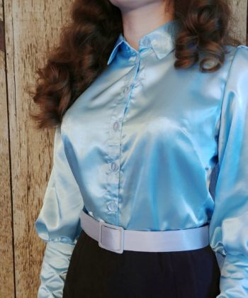 The supremely feminine and elegantly chic styles of days gone by can be recreated at home, in many different ways, with this ladies vintage blouse sewing pattern.