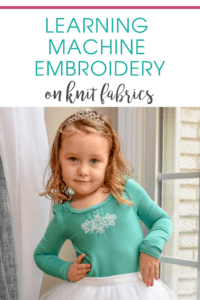 Embellishments like applique, and embroidery are the icing on the sewing cake! Come join me on my journey to explore machine embroidery on knit garments!