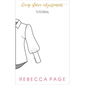 This free bicep sleeve adjustment tutorial will guide you through a sleeve adjustment to ensure the best fit for your me-made wardrobe!