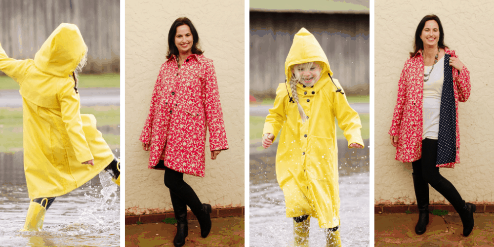 This raincoat sewing pattern has me singing in the rain ? The Andie Anorak is a modern take on a classic and something every wardrobe needs!