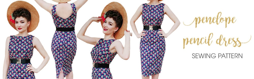 This dress is everything your vintage daydreams are made of! Style and elegance in one gorgeously flattering and comfy pencil dress!