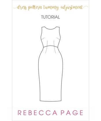 This free tutorial will guide you through a full tummy adjustment for woven dresses, to ensure the best fit for your me-made wardrobe!