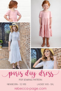 Our Paris Party Dress is one of our most popular patterns for fancier wearing. We wanted it to be casual so now we have the option-packed Paris Day Dress.