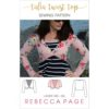 This ladies twist top sewing pattern is a lovely finishing touch to wear over any semi-fitted to tight base layer. It's the perfect little extra!