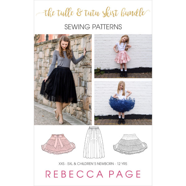 Get ready to twirl in this lovely ulle Skirt and Tutu Skirt sewing pattern bundle! The ballerina skirt patterns are gorgeously full and fabulous. It's love!