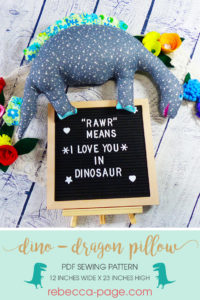 Travel back to the Land Before Time and go on a pre-historic adventure with this insanely cute dinosaur pillow sewing pattern.