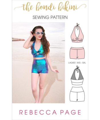 It's swim time! Get that summer wardrobe ready with the ultimate ladies bikini sewing pattern! The Bondi Bikini is comfy and flattering!