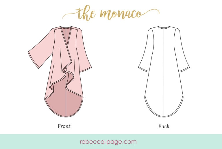 Daydreams of strolling along the Monegasque beaches are within reach… almost. With this ladies cover up sewing pattern, you're one step closer to Monaco ?