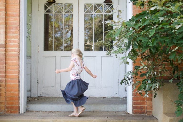 The Isabella childrens boho maxi skirt sewing pattern is boho fun; a look that combines cute silhouettes, comfort, and a pinch of unique quirk.