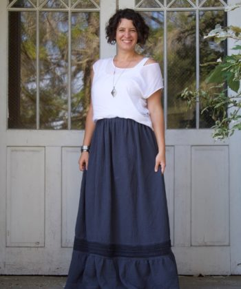 The Isabella ladies boho maxi skirt sewing pattern is boho chic; a look that combines flattering silhouettes, comfort, and a pinch of unique quirk.