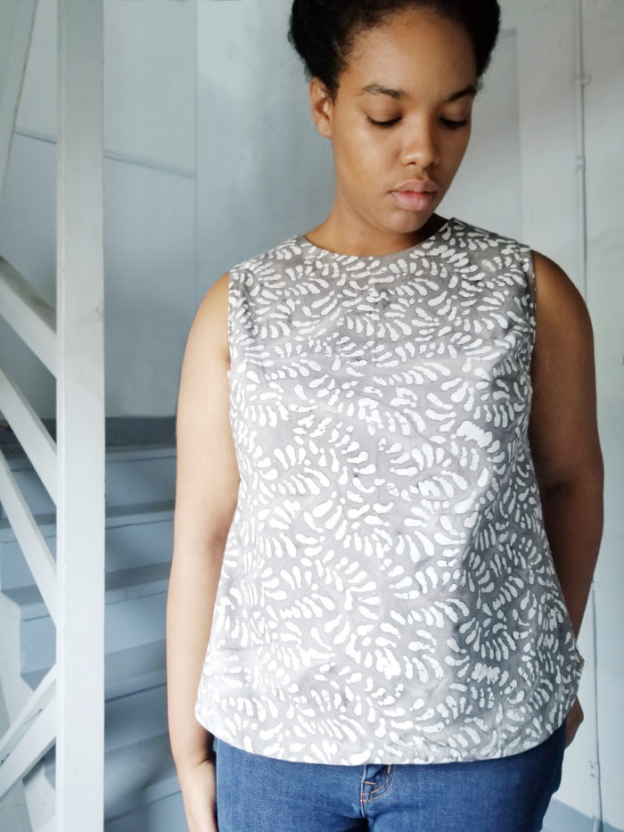 The Tessa is a simply beautiful ladies woven top sewing pattern that sews up so easily and is ideal for both plain fabrics and prints.