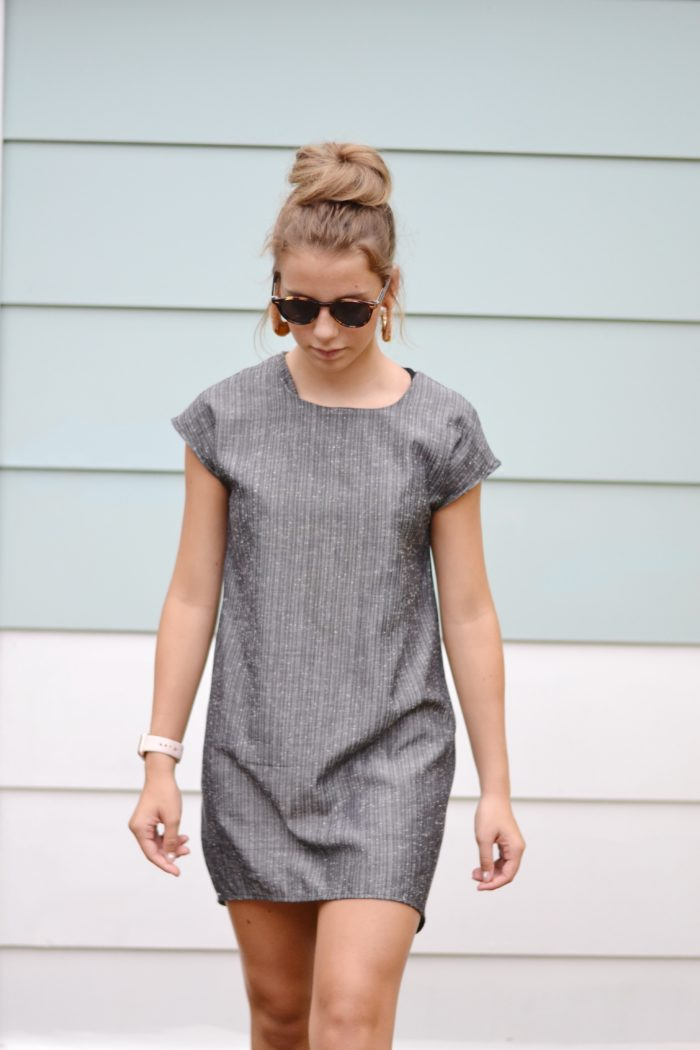 The Laura sewing pattern is a chic ladies cocoon dress, and a quick, easy sew! It's a comfortable and versatile and you can whip it up in under 5 hours!