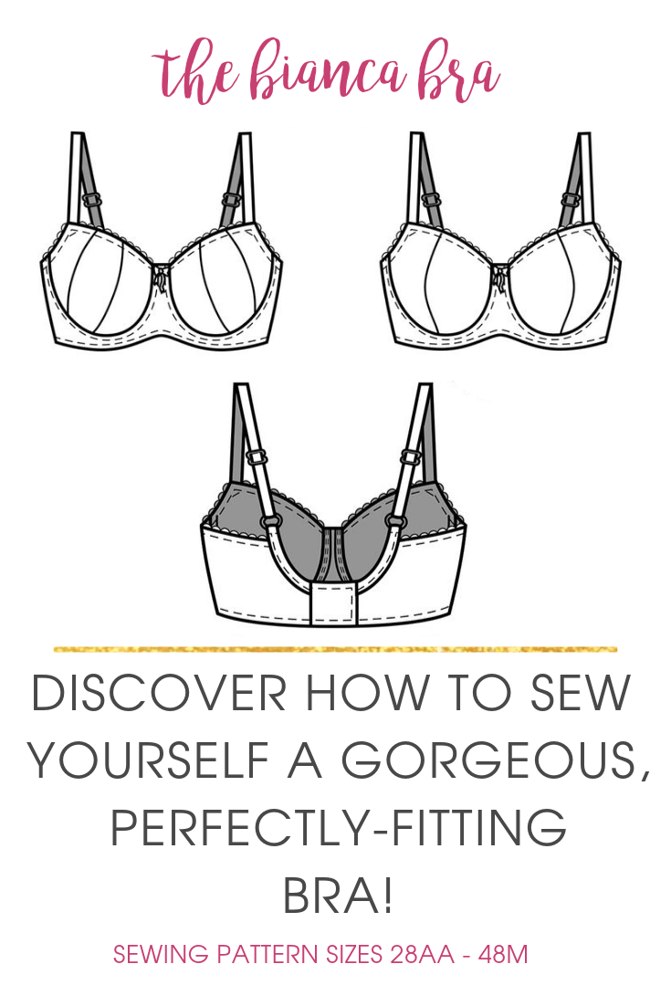 For a gentle lift and excellent support, the Bianca ladies bra sewing pattern has you covered! Pair with the Bianca Underwear for a beautiful lingerie set.