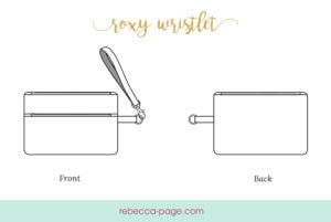 Incredibly practical and cute, this wristlet sewing pattern gives you a pretty neat way to keep everything you need on hand AND keep your hands free to hold your coffee!