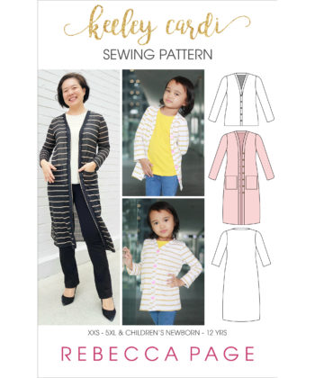 The Keeley is the perfect button up cardigan sewing pattern for you to get comfy and cozy in any weather.This beginner pattern is a beautifully simple sew.