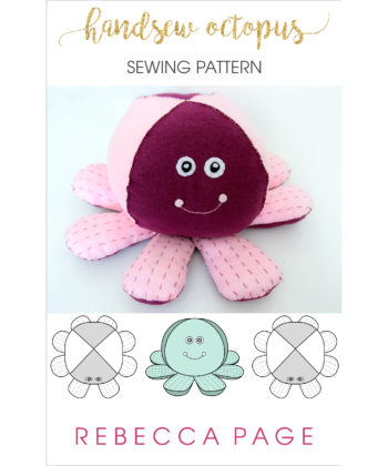 8 arms mean extra hugs! Call them tentacle, legs, or arms, there's a whole bunch of cute crammed into this snuggly handsewn octopus sewing pattern freebie!