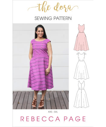 Fresh and functional, the Dora ladies skater dress sewing pattern will take you from day to night in one beautifully-simple tailored pattern.