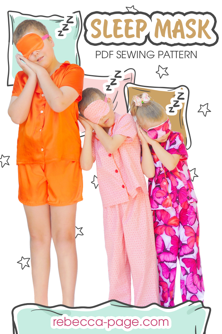 Sweet dreams 'til sunbeams find you with the simplest, quickest sew; the Sleep Mask sewing pattern will help you leave your worries behind you.