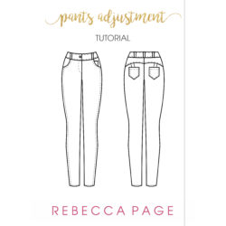 This free pants adjustment tutorial will guide you through a trouser adjustment to ensure the best fit for your me-made wardrobe!