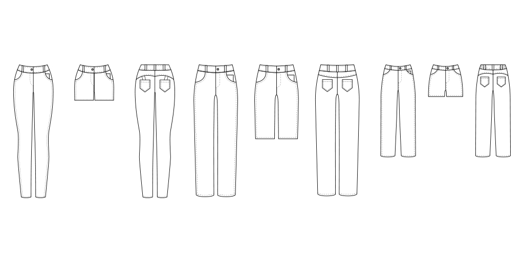 This jeans pattern is designed for any denim – you can use stretch denim, bull denim, or normal denim. Jeans don't just have to be in denim though... you can use nearly ANY medium or heavy weight woven fabric to make yourself a pair of gorgeous made-to-measure trousers. You can use the pattern for a whole bunch of perfectly-fitting trousers in a range of different fabrics, such as low-pile corduroy, twill, cotton canvas, or even a brocade.