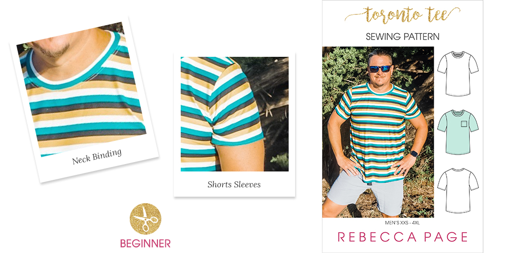 This sewing pattern in men's sizes XXS to 4XL is a super comfy and and flattering boxy t-shirt warbdrobe winner and subscriber-exclusive FREEBIE!