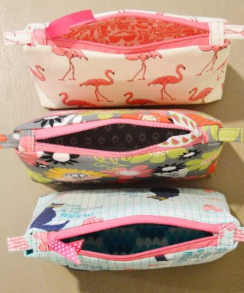 The Zoe is a beautifully-finished and fully lined pouch pattern that has FIVE different sizes to suit your needs. With zip tabs and pulls, these bags are easy to open and close and perfect for all kinds of storage. Plus they're perfect for scrap busting! Use all those little bits of your fave left over scraps.