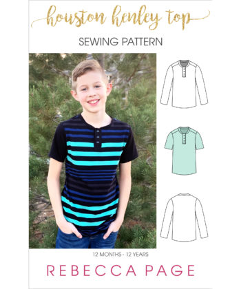 Take a step up from casual with this deliciously comfy and simple childrens henley top sewing pattern. The perfect top for day to day wearing and/ or pjs.