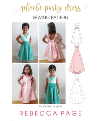 The Phoebe is a FREE, fabulous party dress sewing pattern that fits to perfection. Detailed instructions will guide you to the dreamiest dress ever!