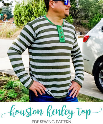 Take a step up from casual with this deliciously comfy and simple mens henley top sewing pattern. The perfect top for day to day wearing and/ or pjs.